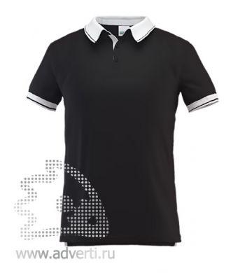 Рубашка поло «Stan Contrast», мужская, черная