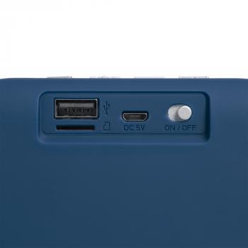 Беспроводная колонка Borsetta, синяя, разъемы