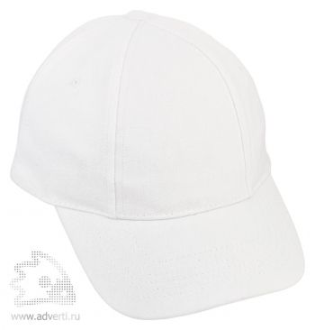 Бейсболка «Six», белая