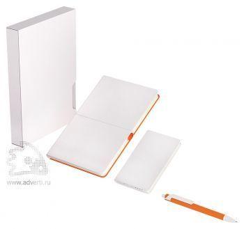 Набор «POWER BOX», белый с оранжевым