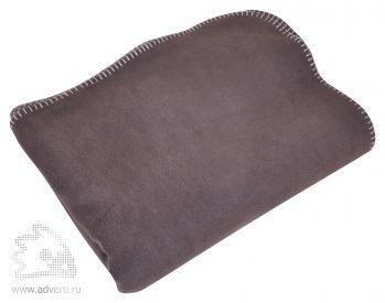 Плед «Уютный» с карманами для ног, коричневый