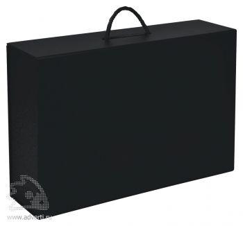 Коробка складная подарочная с ручкой, черная