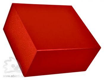 Коробка подарочная складная, красная