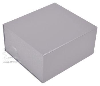 Коробка подарочная, серебристая