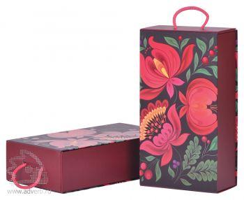 Коробка подарочная «Калинка», складная с ручкой