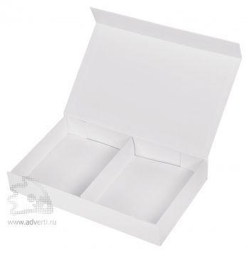 Коробка подарочная с разделителем, белая