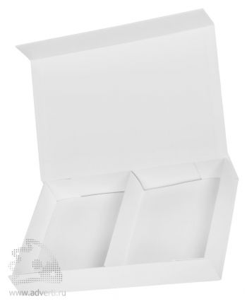 Коробка подарочная складная со съемным разделителем, белая