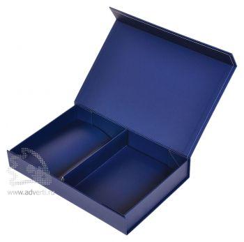Подарочная коробка с разделителем, синяя