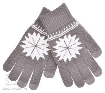 Перчатки для сенсорных экранов «СНЕЖИНКА», серые