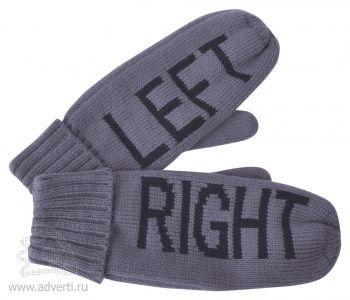 Рукавицы мужские «Left&Right» с теплой подкладкой