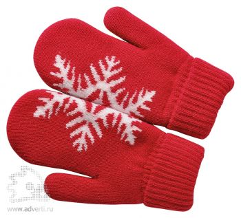 Варежки «Сложи снежинку», красные