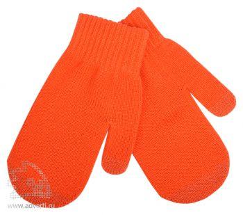 Варежки сенсорные «In touch», оранжевые