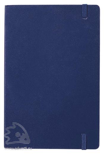 Записная книжка А5 «Journalbooks-1», темно-синяя, оборот