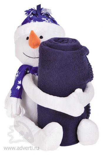 Плед с игрушкой «Снеговик»