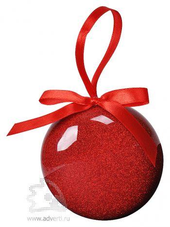 Елочное украшение «Шар», красное