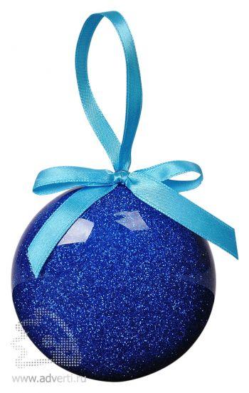 Елочное украшение «Шар», синее
