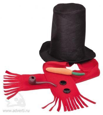 Набор «Веселый снеговик», красный