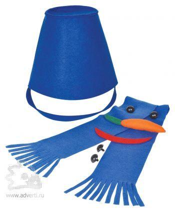 Набор для лепки снеговика «Улыбка», синий