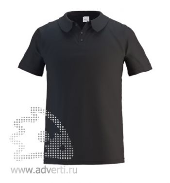 Рубашка поло под сублимацию «Stan Poly», мужская, черная