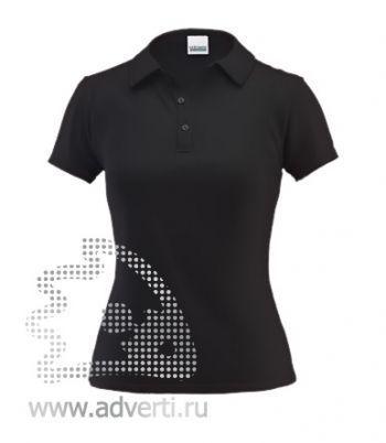 Рубашка поло под сублимацию «Stan Poli W», женская, черная