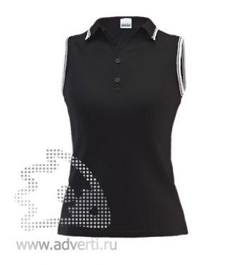Рубашка поло «Stan Hot W», женская, черная с белым