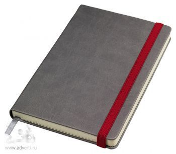 Бизнес-блокнот «Fancy» с красной резинкой
