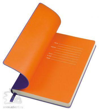Бизнес-блокнот «Funky», фиолетовый с оранжевым