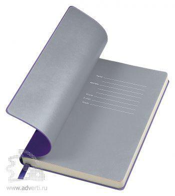 Бизнес-блокнот «Funky», фиолетовый с серым