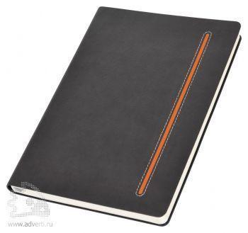 Бизнес-блокнот А5 «Elegance», оранжевый