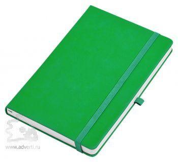 Бизнес-блокнот «Silky» А5, зеленый