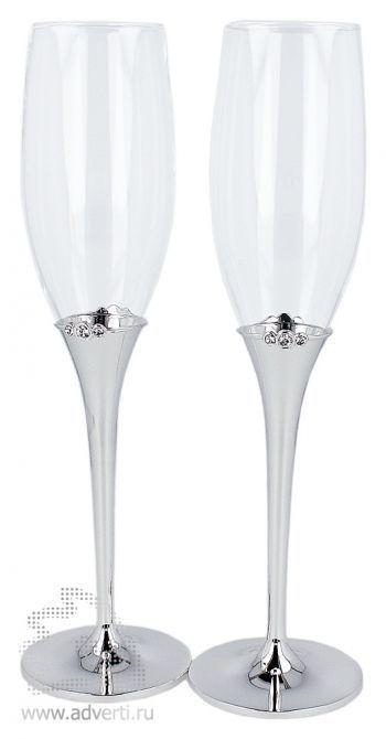 Фужеры для шампанского «Crystal»