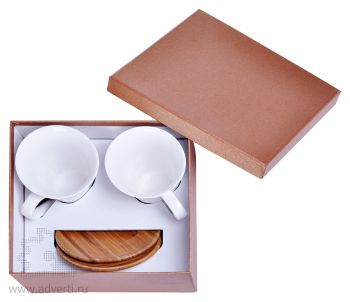 Набор «Натали»: две чайные пары в подарочной упаковке