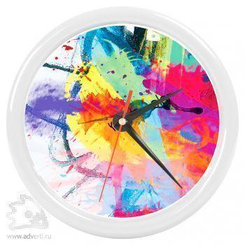 Часы настенные «Print» для рекламной вставки, белый обод