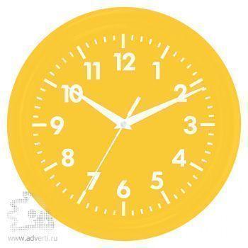 Часы настенные «Print» для рекламной вставки, желтые
