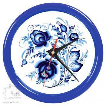 Часы настенные «Print» для рекламной вставки, синий обод
