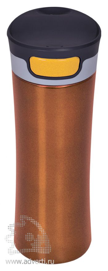 Термостакан дорожный вакуумный «Формула», оранжевый