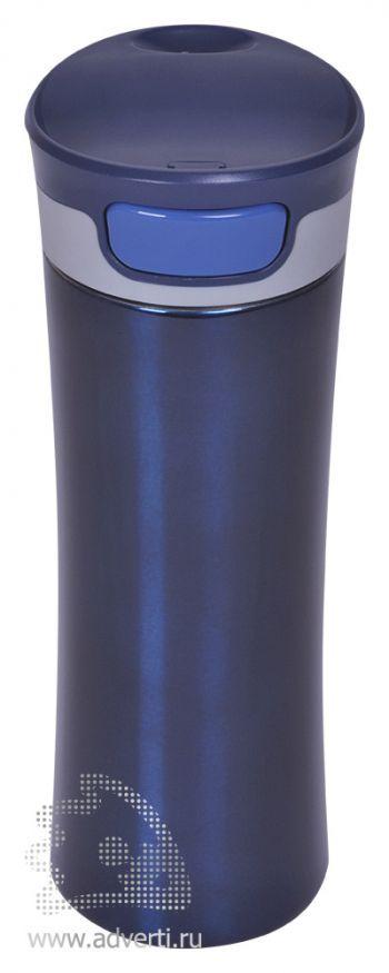 Термостакан дорожный вакуумный «Формула», синий