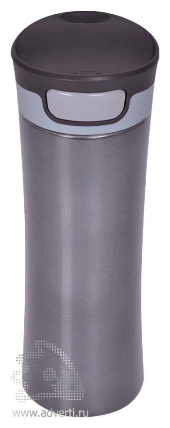 Термостакан дорожный вакуумный «Формула», серый
