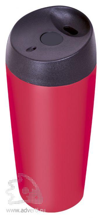 Термостакан дорожный матовый «Гран-при», красный