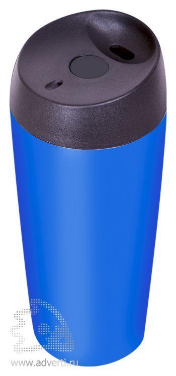 Термокружка дорожная матовая «Гран-при», синяя