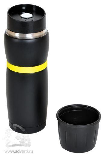 Термостакан дорожный «Фантазия» со съемным стаканчиком, открытый