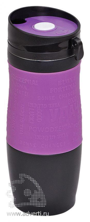 Термостакан вакуумный «Удача», фиолетовый