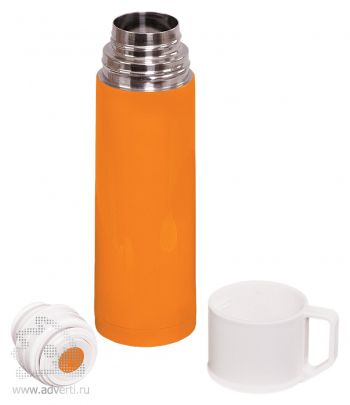 Термос «Giorgio», оранжевый, открытый
