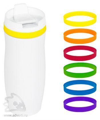 Термостакан дорожный «Фантазия-2» и варианты цветов браслетов