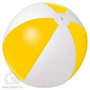Мяч пляжный надувной «Зебра», желтый