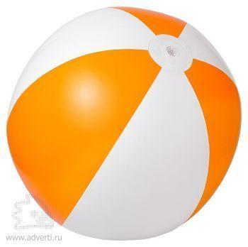 Мяч пляжный надувной «Зебра», оранжевый