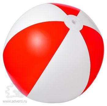 Мяч пляжный надувной «Зебра», красный