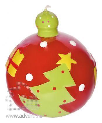 Набор свечей «С Новым годом», свечка-шар