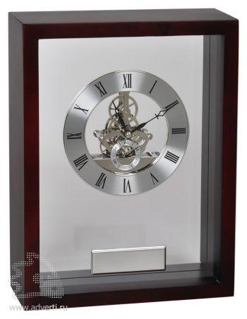 Часы наградные «Скелетон» с шильдом в подарочной упаковке