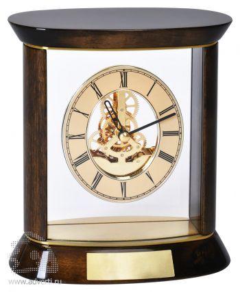 Часы наградные «Премиум» с шильдом в подарочной упаковке